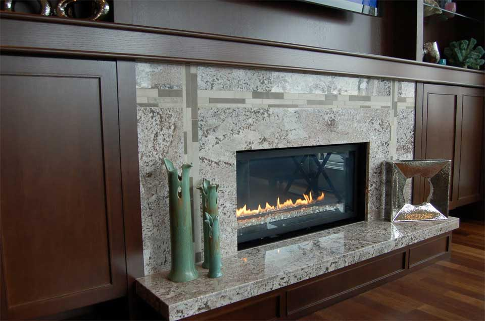 Granite tile fireplace surround fireplace designs for Marble for fireplace surround