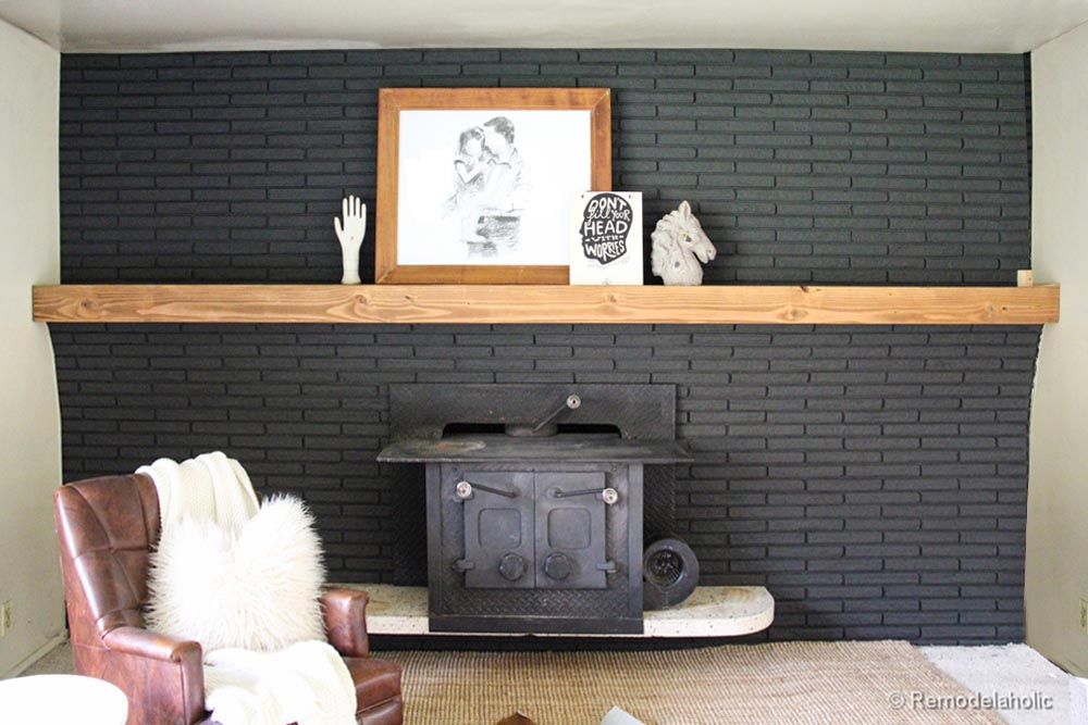 How to Build a Faux Fireplace Mantel