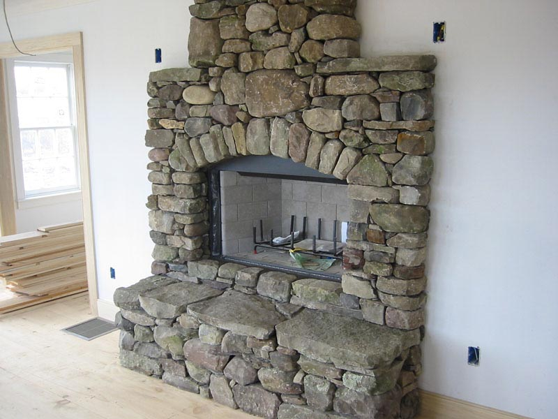 How To Build A River Rock Fireplace Fireplace Designs