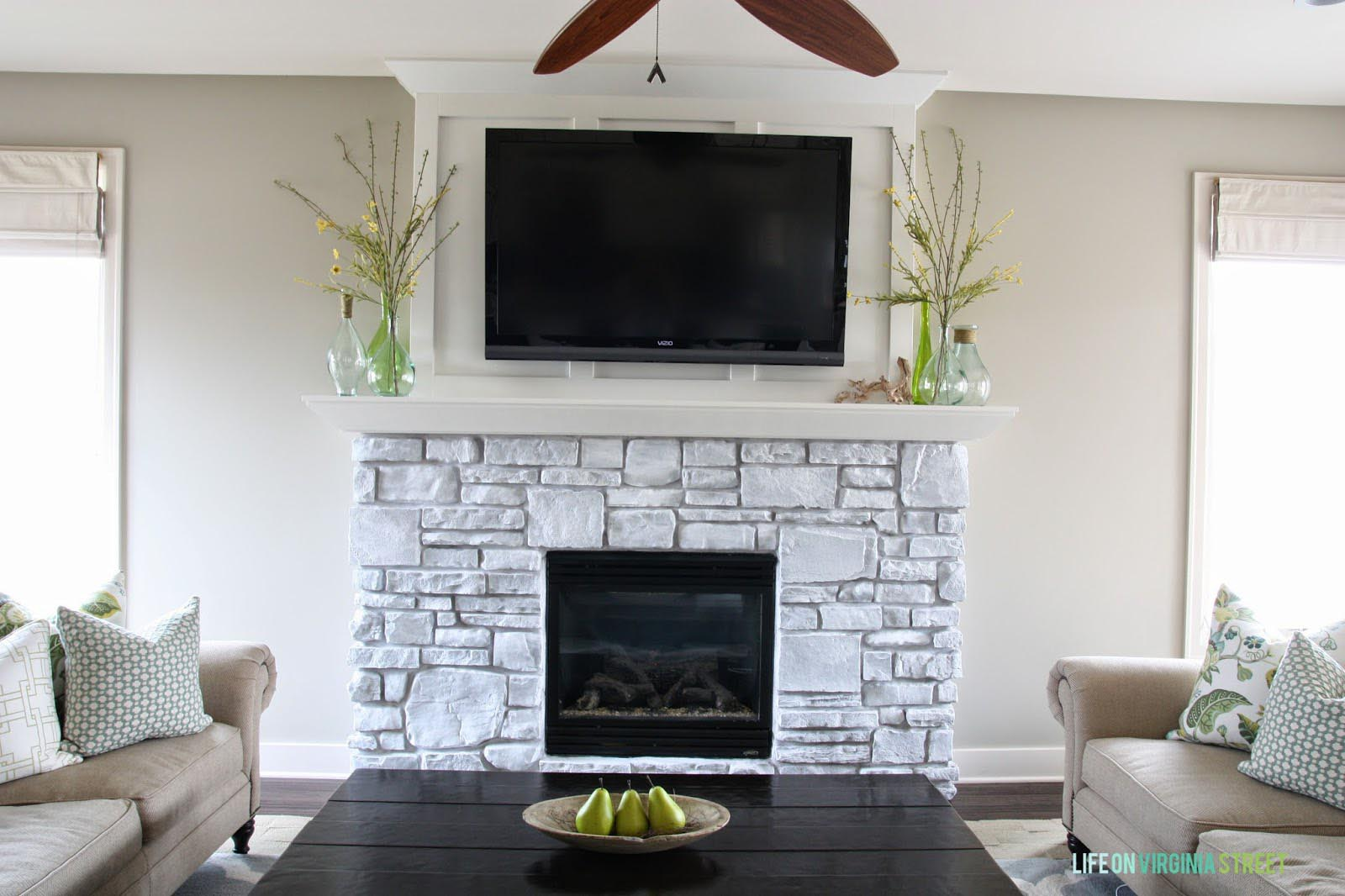 White Stone Fireplace Most Elegant Fireplace Designs