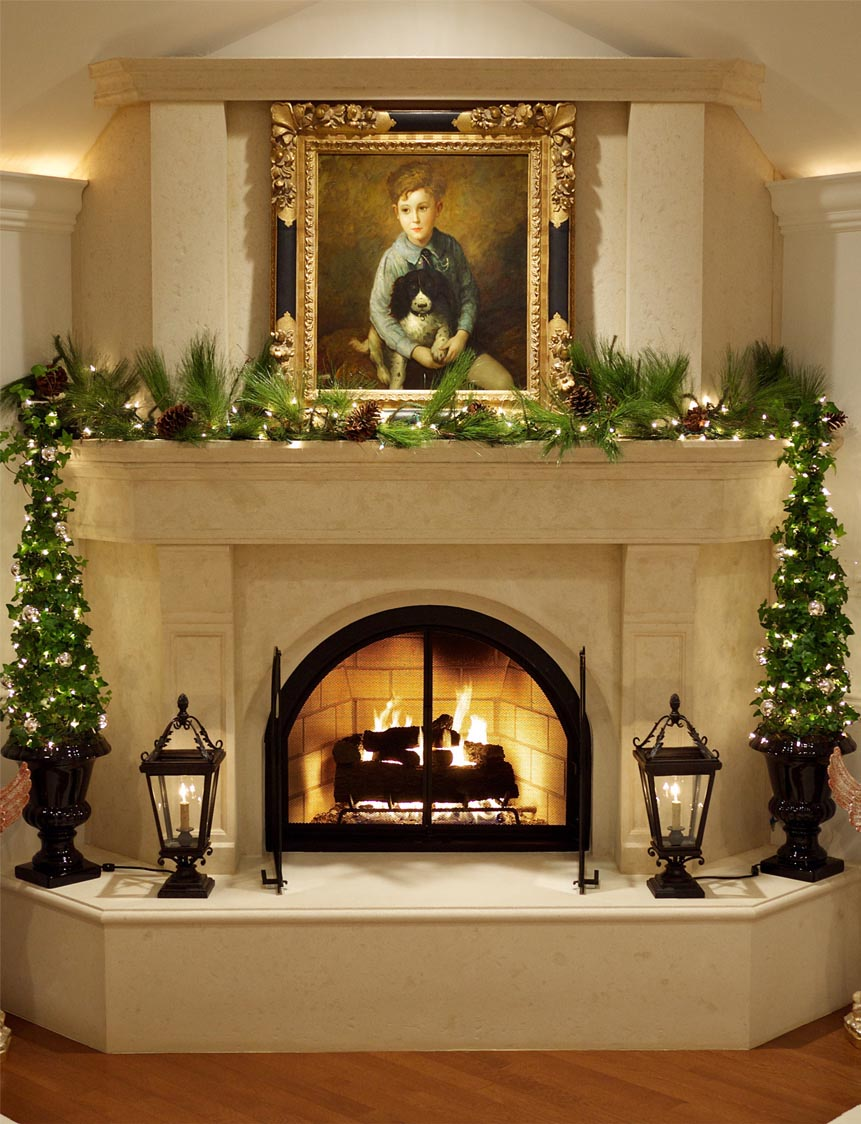 How to decorate a corner fireplace mantel fireplace designs for Fire place mantel ideas