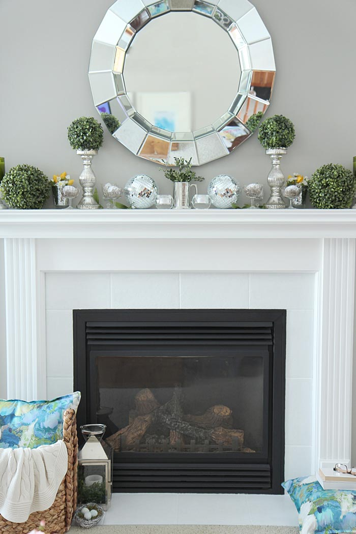 How To Decorate A Fireplace Without Mantle | Fireplace Designs