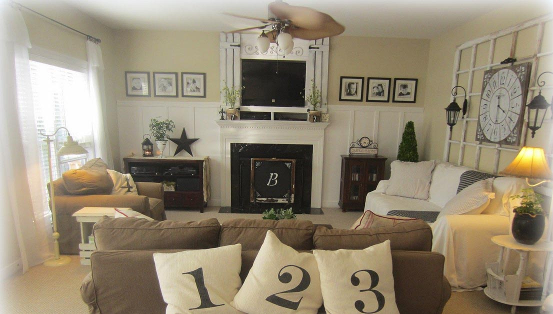 how to decorate a living room with a fireplace fireplace