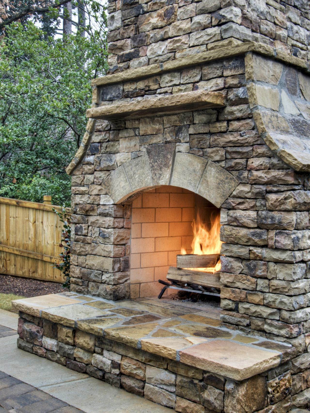 How to Install Dry Stack Stone Fireplace