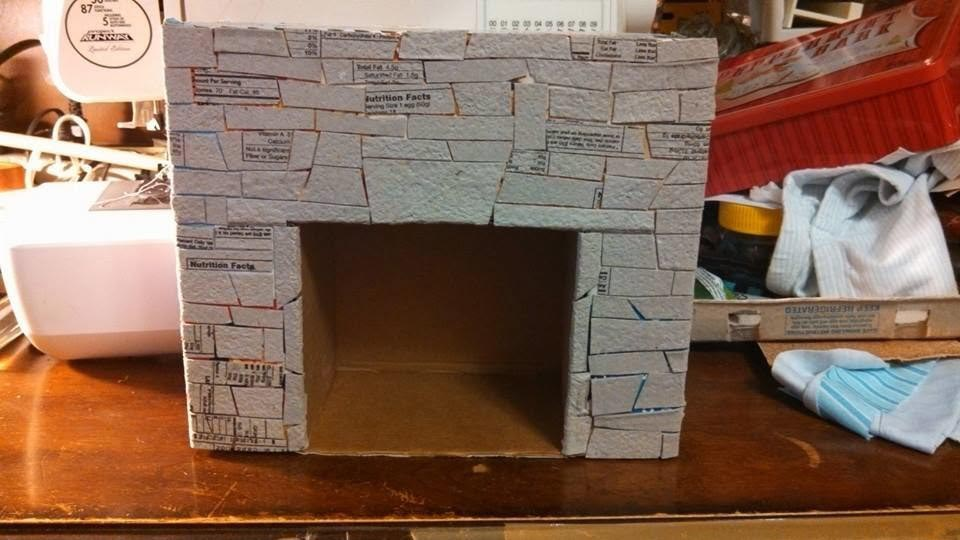 How to Make a Fake Fireplace Out of Cardboard