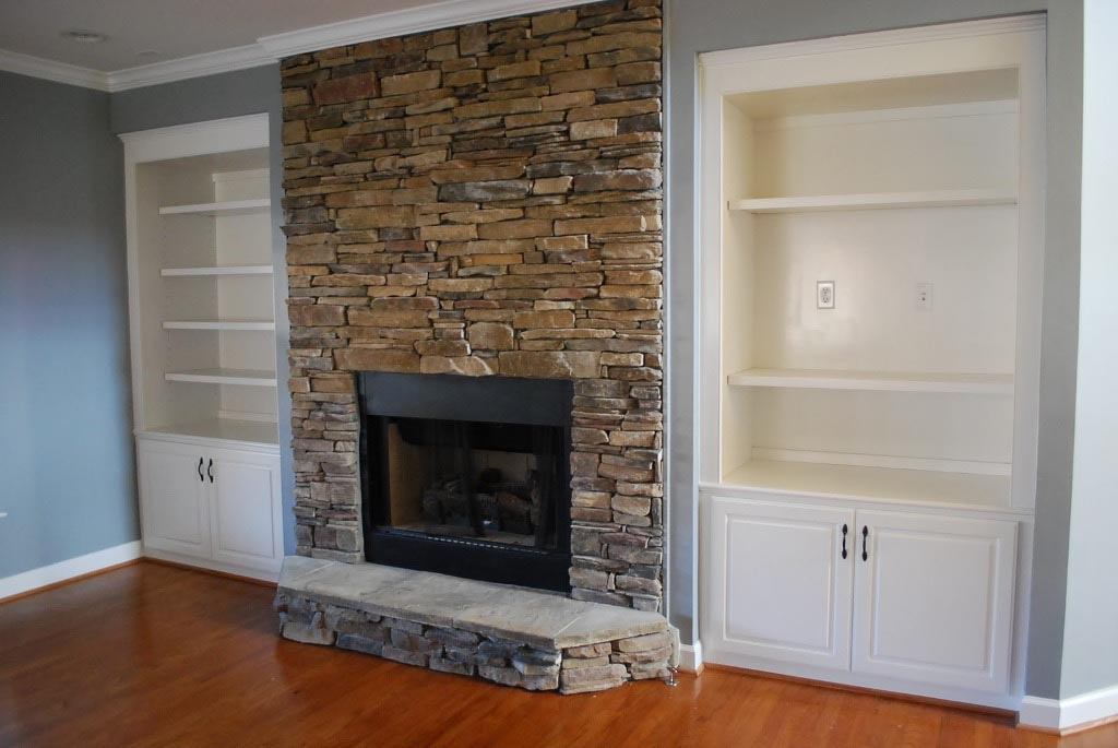 Pieces of advice for brick fireplace remodel fireplace for Case in stile nantucket