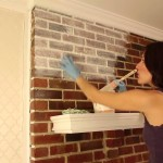 How to Whitewash Red Brick Fireplace