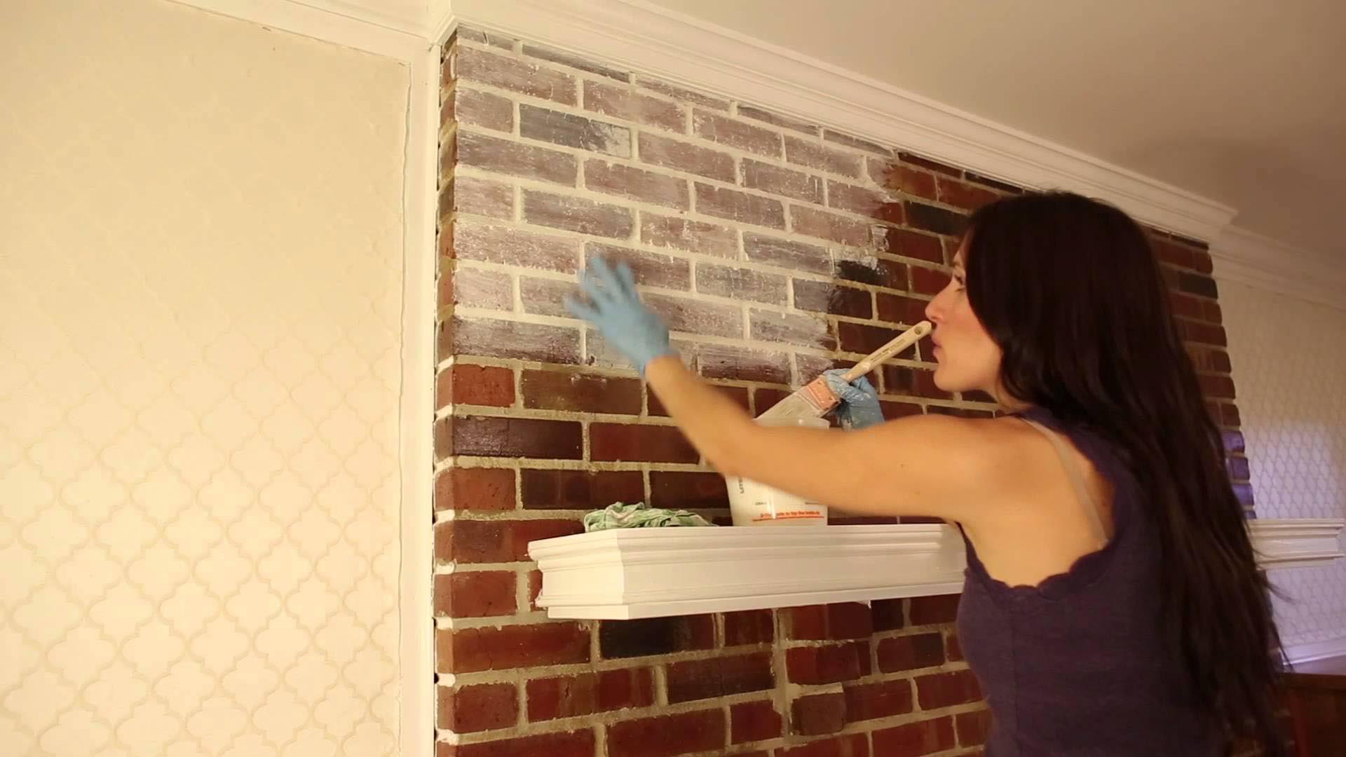 How To Whitewash Red Brick Fireplace Fireplace Designs