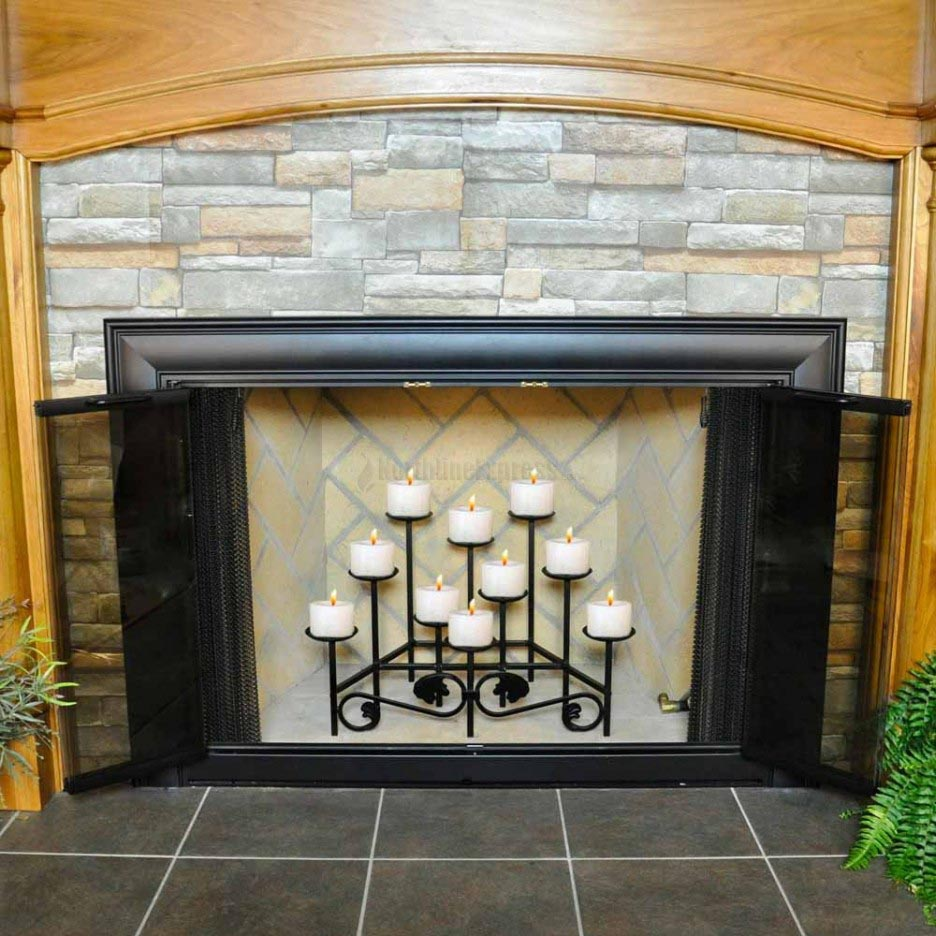 Iron Candle Holders for Fireplace