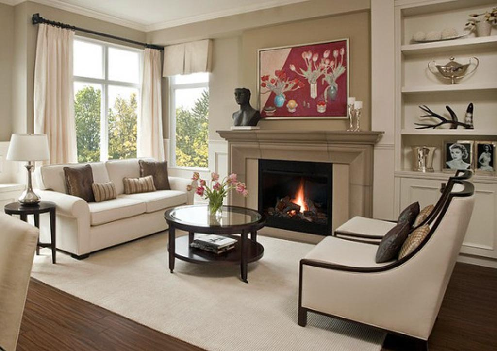Living Room Arrangements with Fireplace