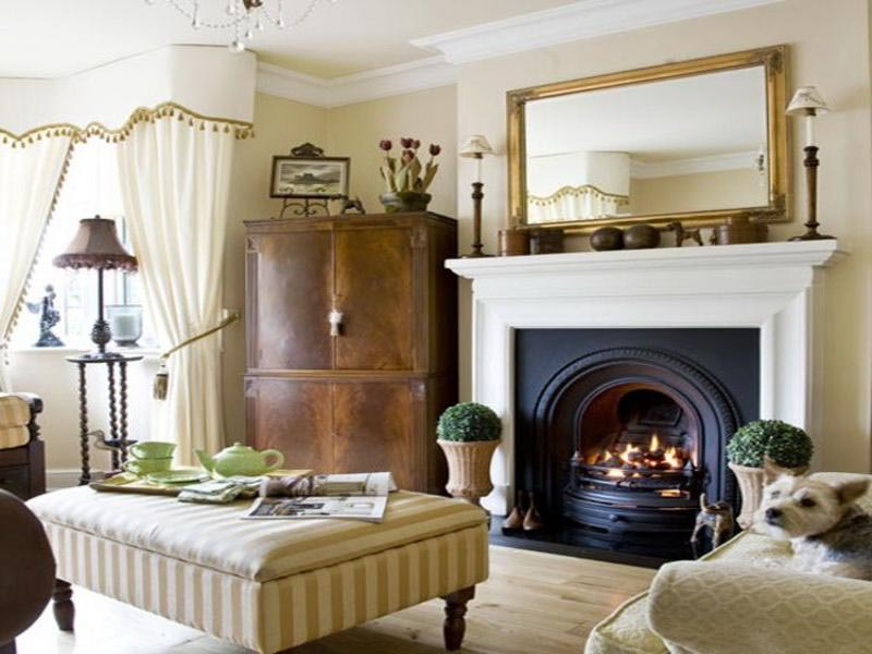 Living Room Decor with Fireplace