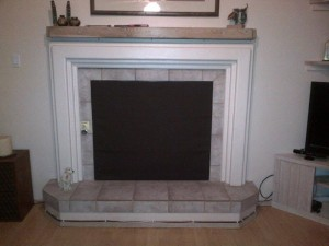 Magnetic Fireplace Cover Black