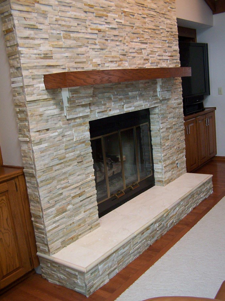 Modern Brick Fireplace Makeover Fireplace Designs