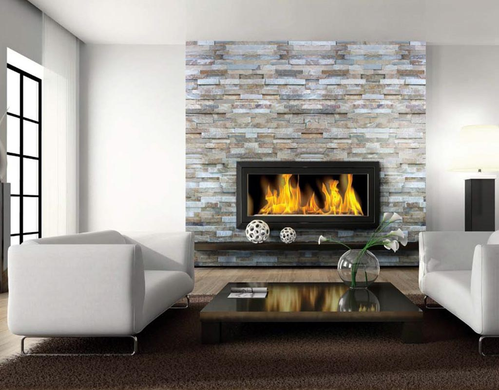 Easy Inspired By Modern Stone Fireplace