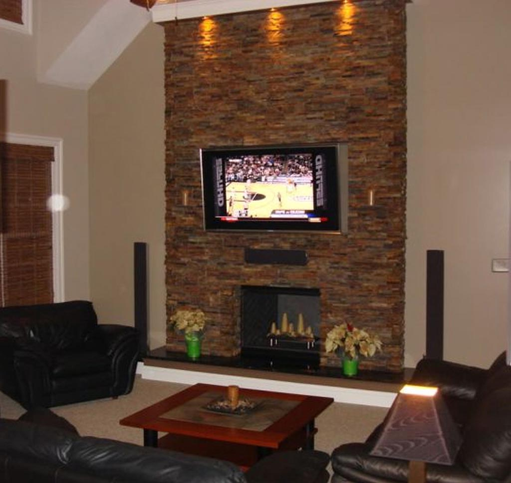 Modern stone fireplace wall ideas fireplace designs Brick fireplace wall decorating ideas