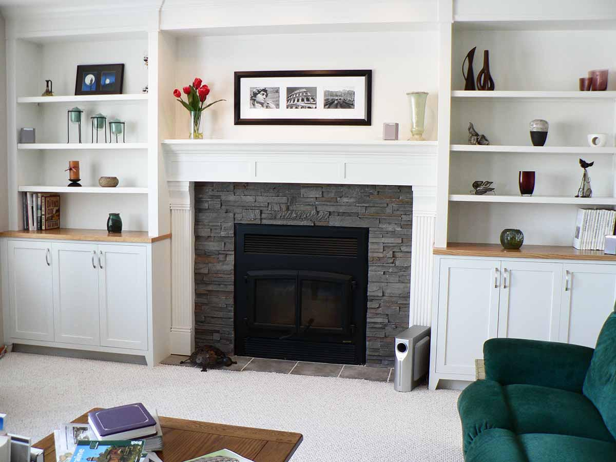 Modern wood fireplace mantels fireplace designs for Wood fireplace surround designs