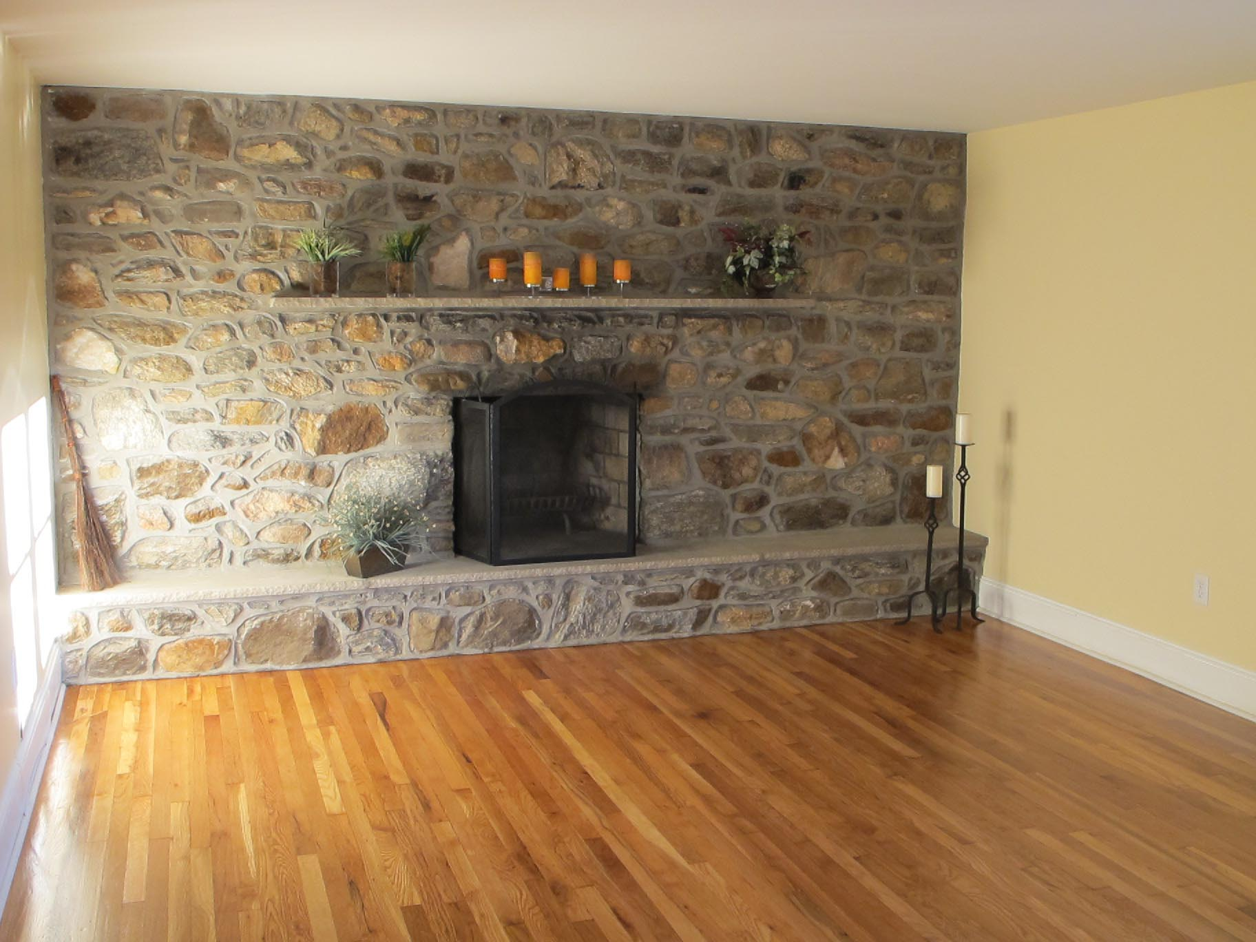 Natural Stone Veneer Fireplace Fireplace Designs