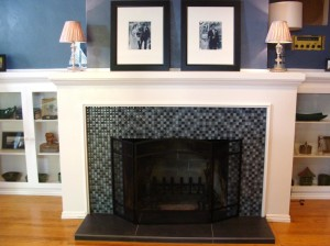 Old Brick Fireplace Makeover