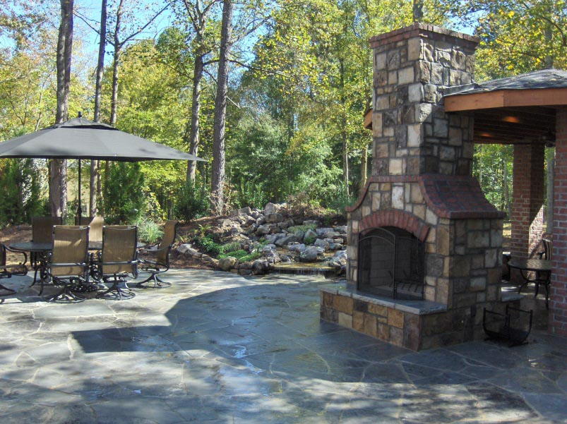 Outdoor Chimney Parts : Outdoor brick fireplace kits designs