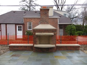 Outdoor Brick Fireplace Plans