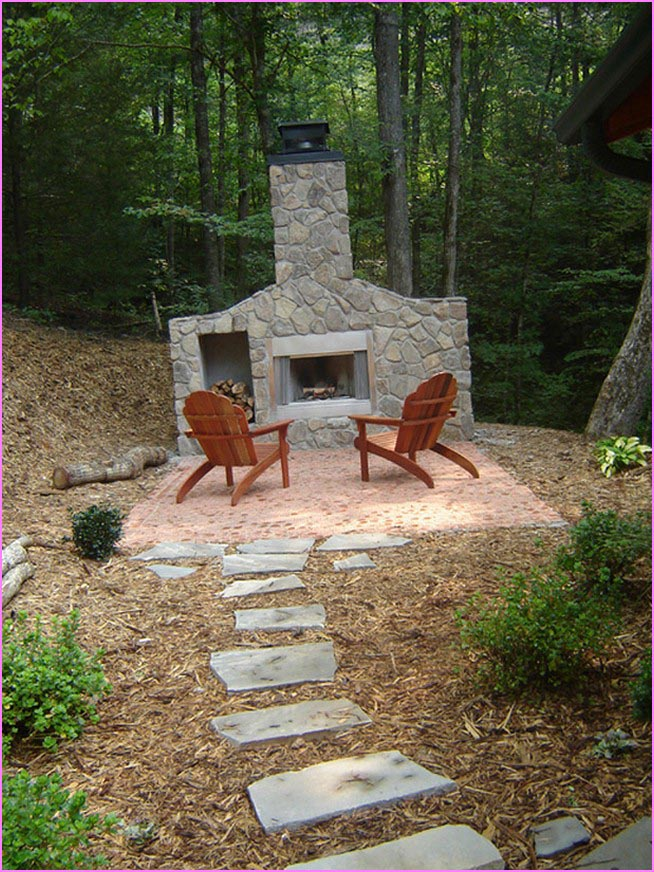 Diy outdoor fireplace is perfect idea fireplace designs for Outdoor fireplace designs plans