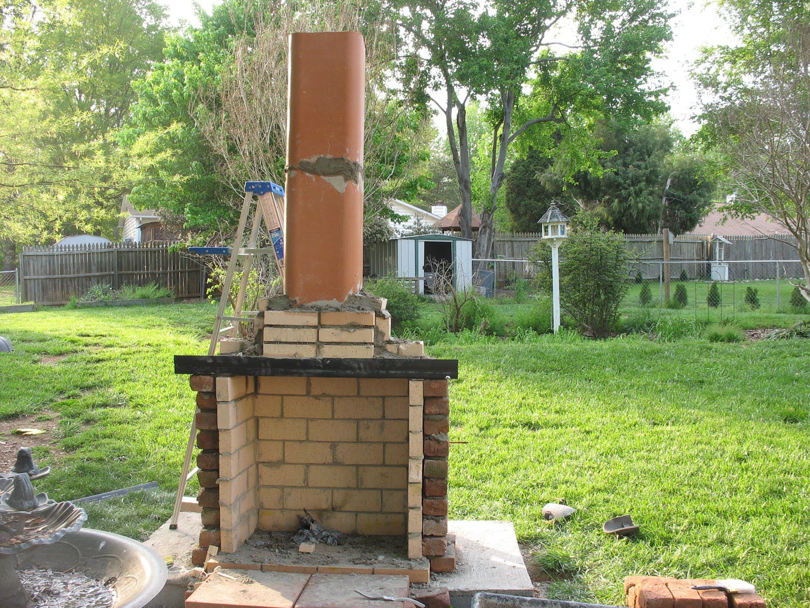 Outdoor fireplace plans diy fireplace designs for Diy brick projects