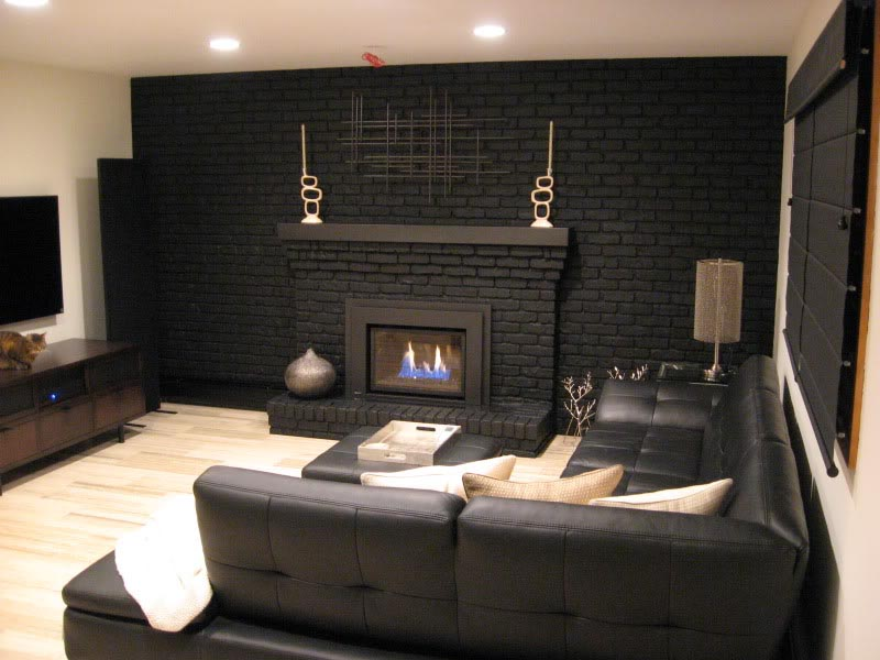 Paint Brick Fireplace Ideas