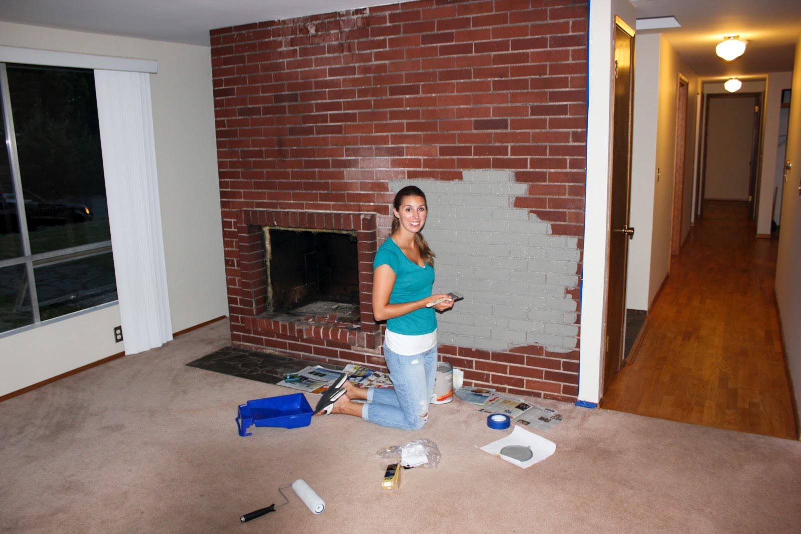 paint colors brick fireplace fireplace designs. Black Bedroom Furniture Sets. Home Design Ideas