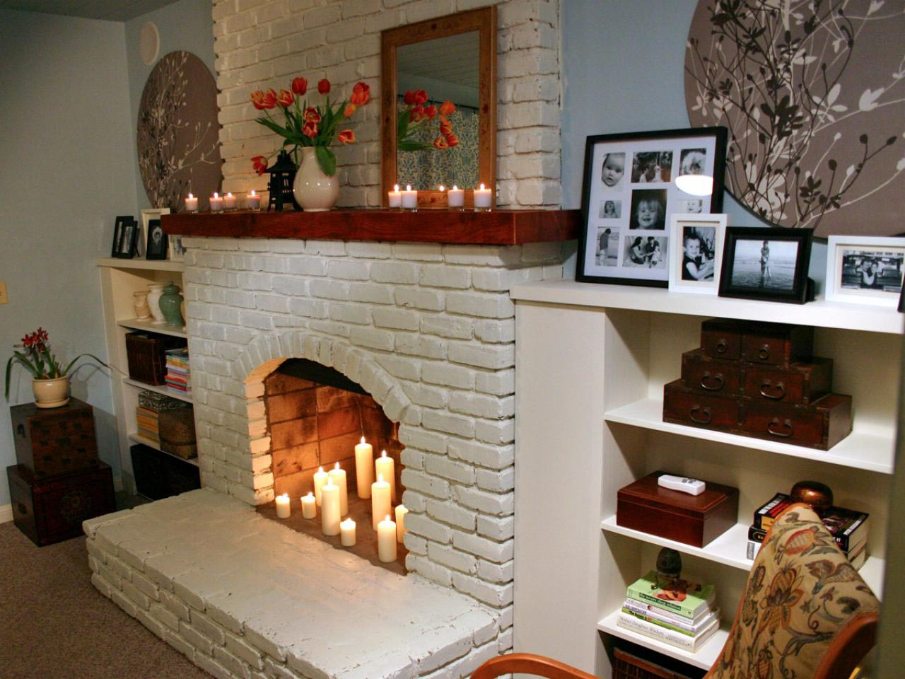 ... Paint Colors for Brick Fireplace ...