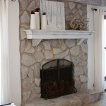 Paint Stone Fireplace White