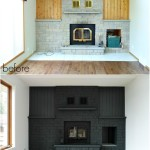 Painted Brick Fireplace Makeover