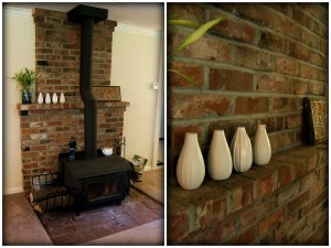 Painting a Red Brick Fireplace