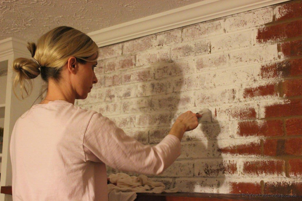 Painting Interior Brick Fireplace