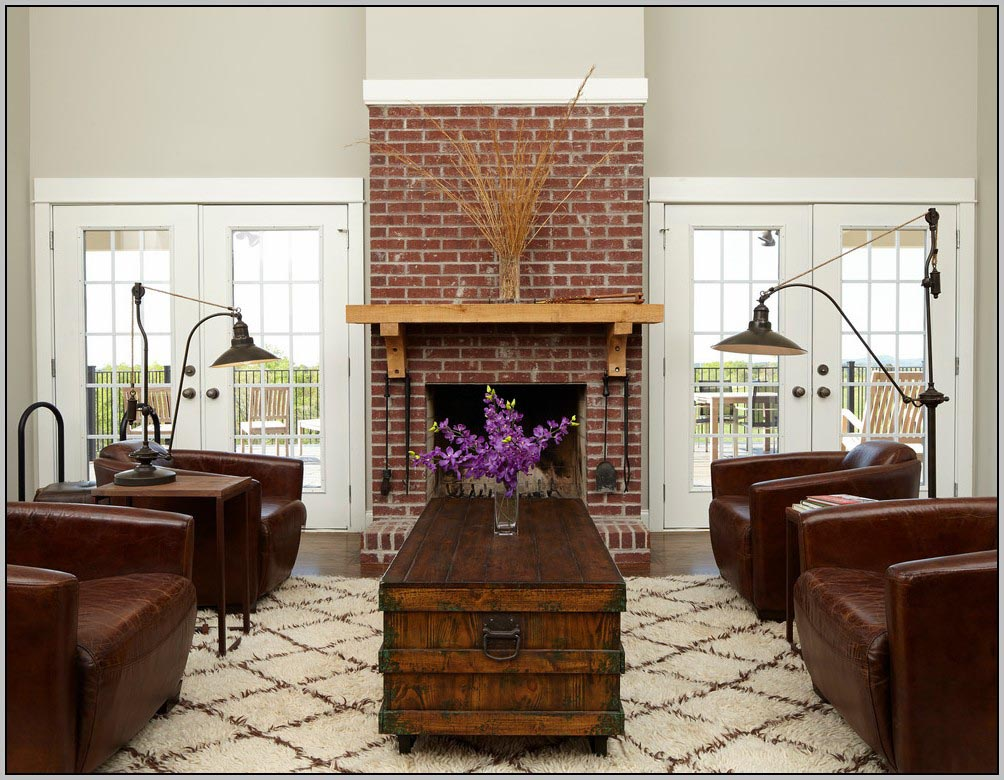 Painting Red Brick Fireplace