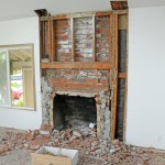 Remodel Brick Fireplace Before and After