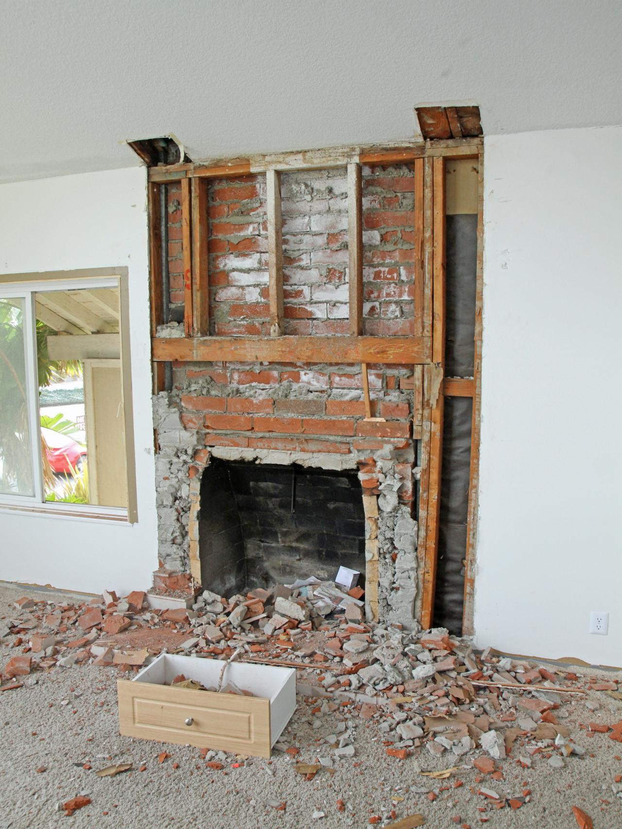 Cool Remodel Brick Fireplace Before And After Fireplace Designs Home Interior And Landscaping Sapresignezvosmurscom