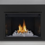 River Rock Gas Fireplace