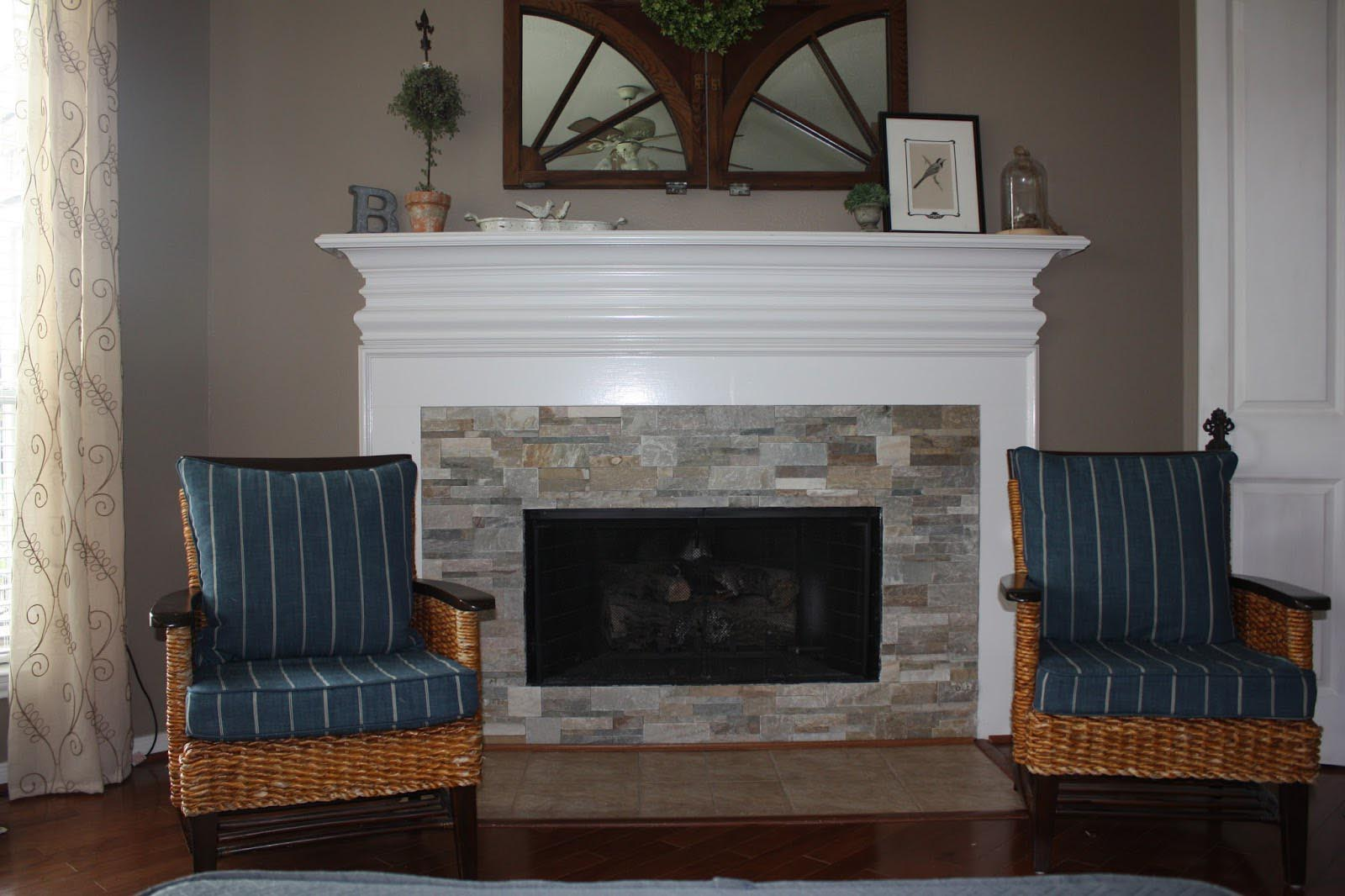 Stack Stone Fireplace DIY