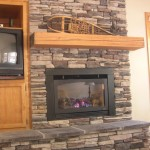 Stack Stone Fireplace Mantels