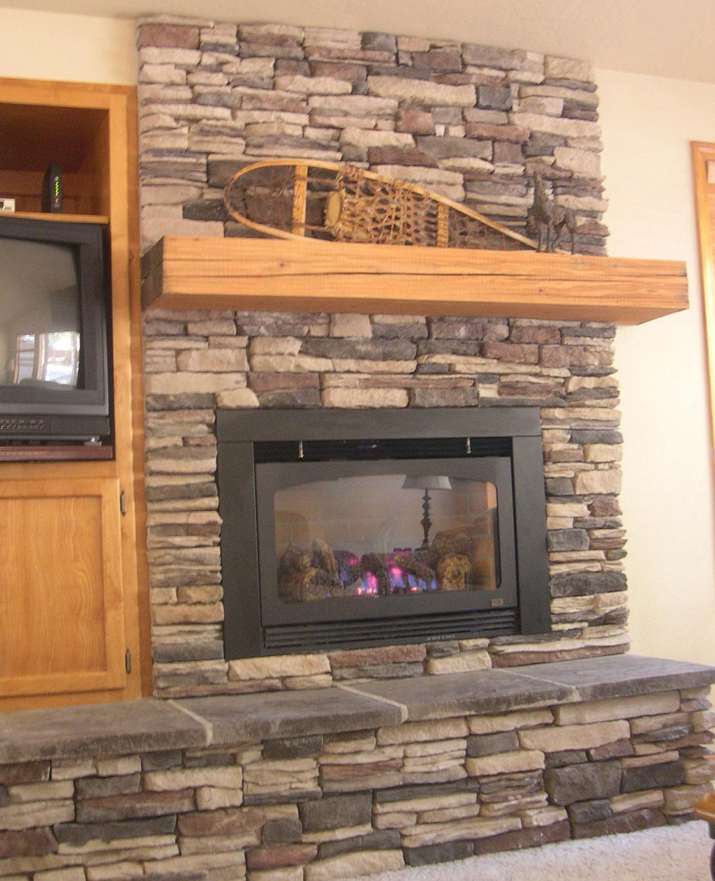 Stack Stone Fireplace Mantels Fireplace Designs
