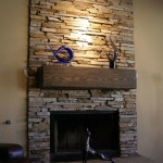 Stack Stone Fireplace Surround
