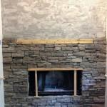 Stone Veneer Around Fireplace
