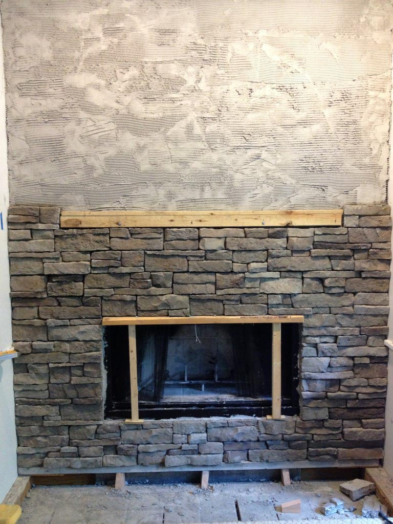 Stone Veneer Around Fireplace Fireplace Designs