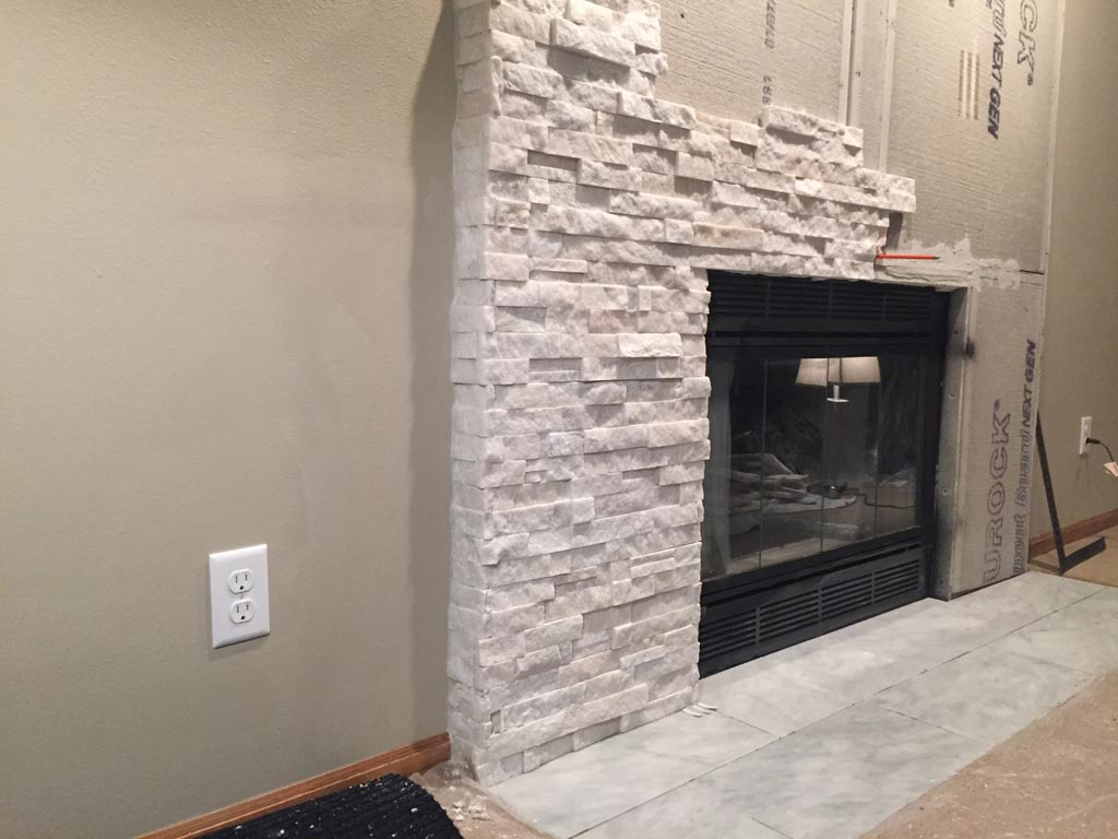 Stone Veneer Fireplace Installation Fireplace Designs
