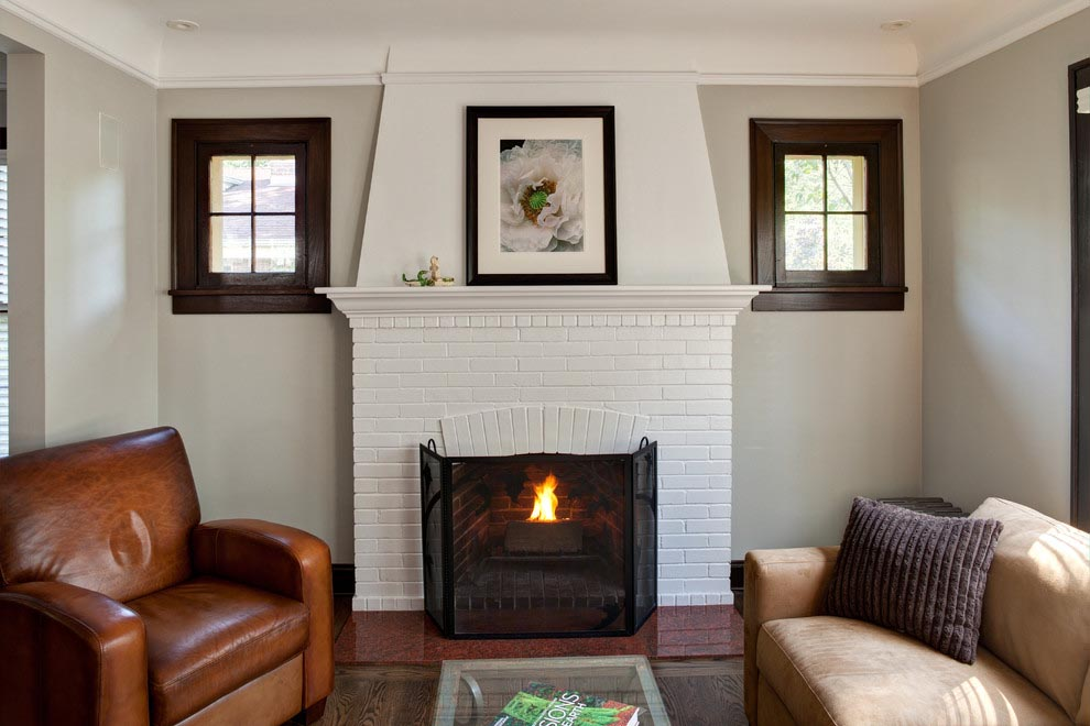 White Brick Fireplace Ideas