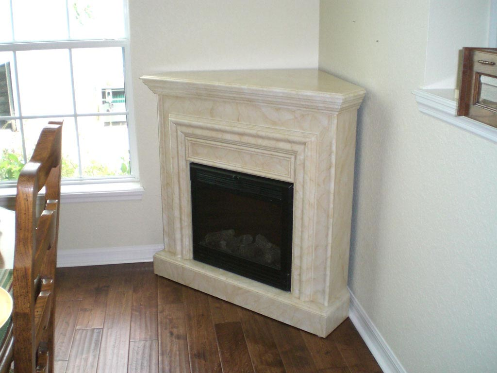White Corner Fireplace Mantels