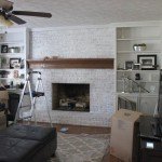 White Painted Brick Fireplace Images