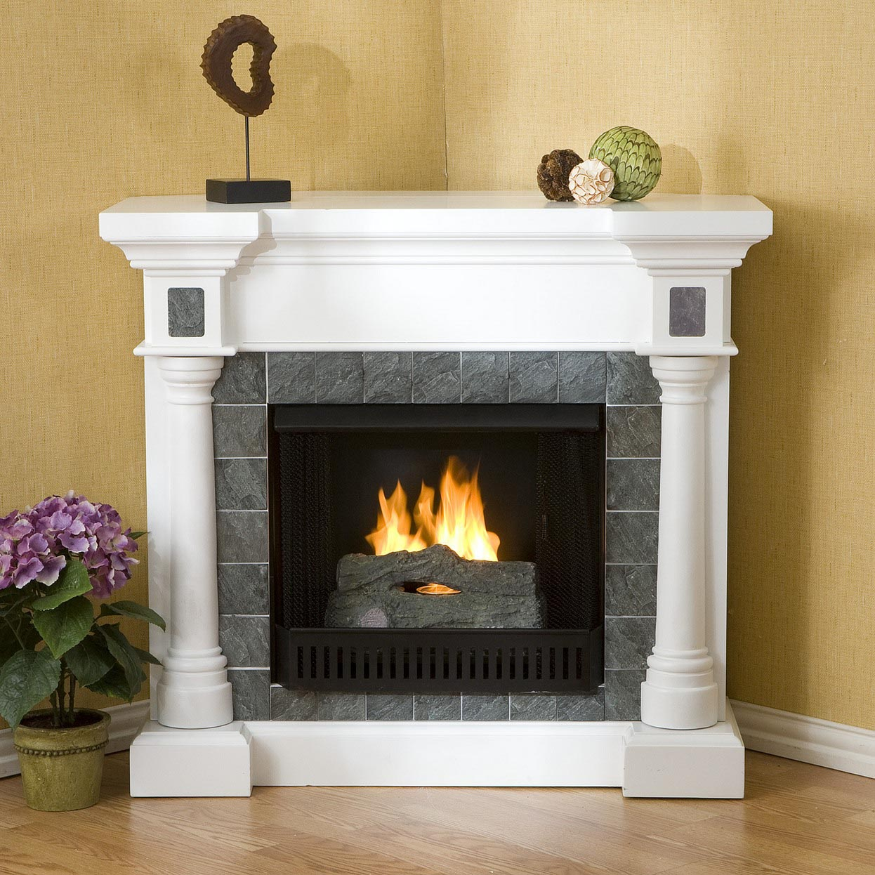 White stone electric fireplace fireplace designs Fireplace design ideas