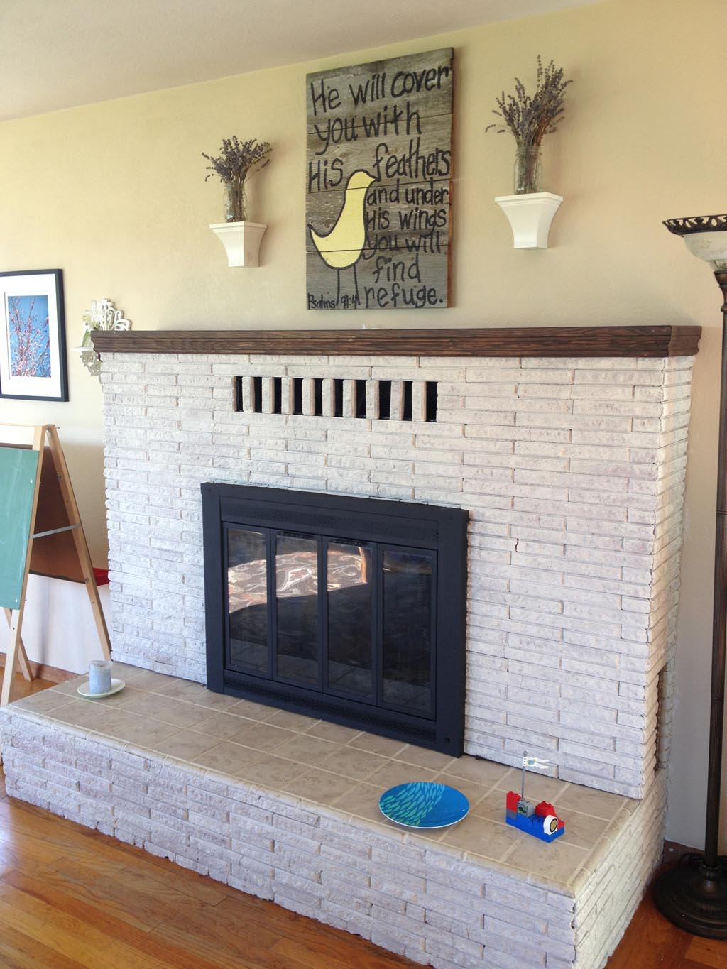 Whitewash Brick Fireplace Pictures Fireplace Designs