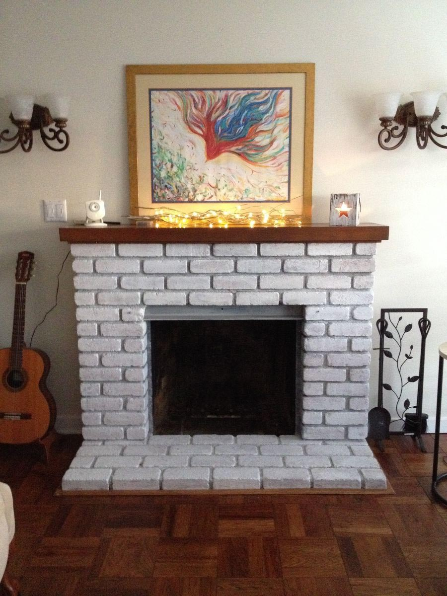 Whitewashing Brick Fireplace Surround Fireplace Designs